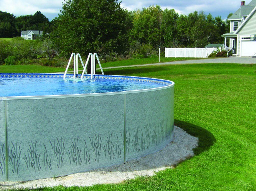 Half above half inground pools half above ground pool for Half in ground pool ideas