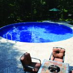Round Pool Stamped Concrete