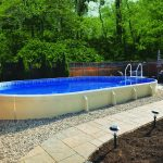 Semi Inground Oval Pool Wood