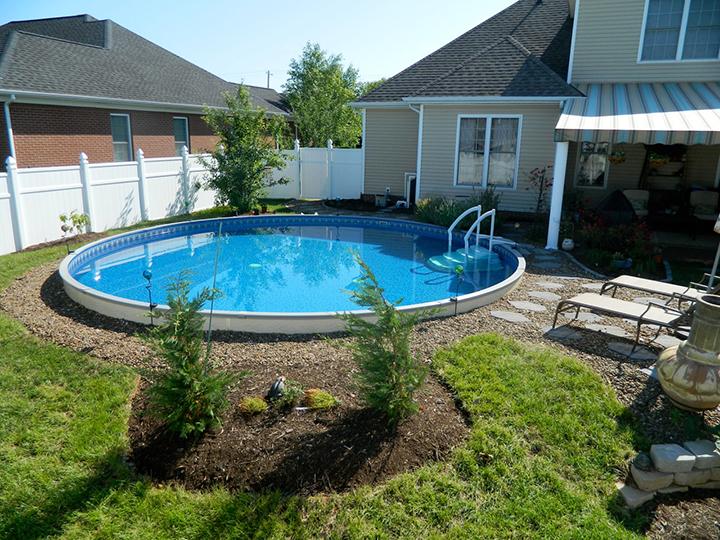 Semi Inground Pool Ideas Decks Backyards
