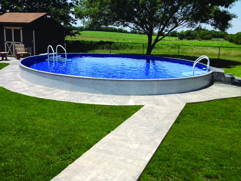 Radiant pools burnett pools spas hot tubs cortland oh Above ground pool installation ideas