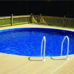 Semi Inground Pool In Deck