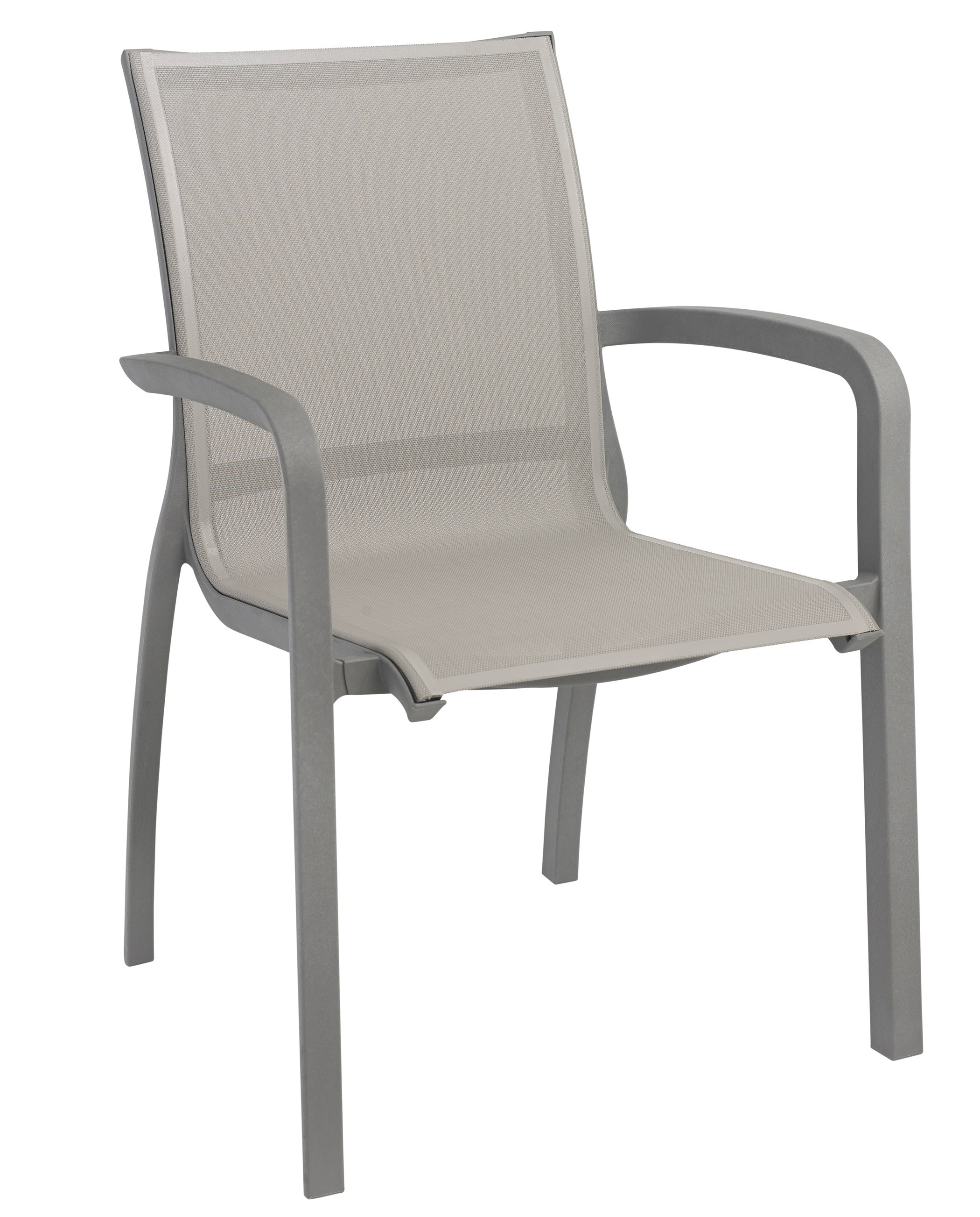 Stacking Armchair gray
