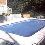 Legacy Edition Pools, 2ft Radius Custom Rectangle Vinyl Liner Lap Pool