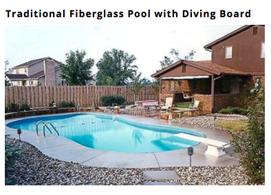 traditional style Custom Fiberglass In Ground Pool