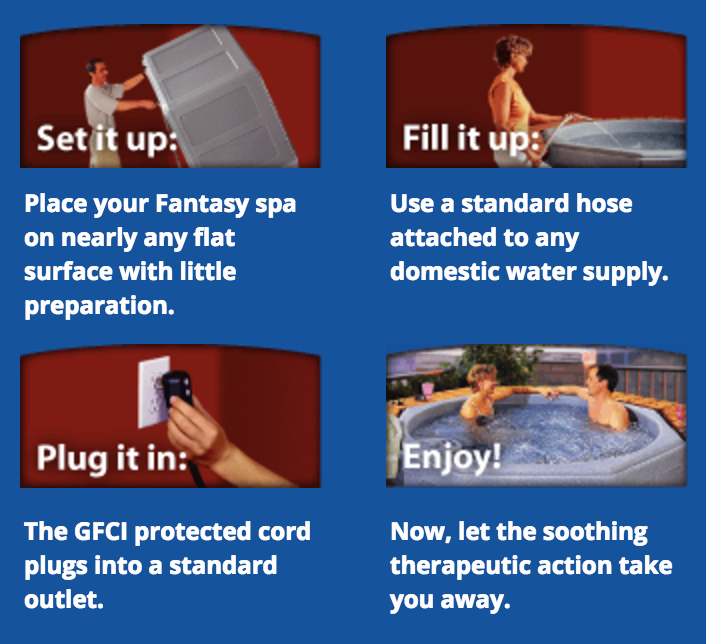 Set up instructions for Fantasy spa