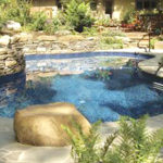 Legacy Edition Mountain Natural Vinyl Liner Pool
