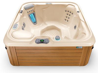 Creme Teak Hot Tub