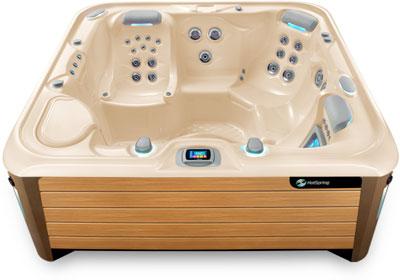 Envoy Creme Teak Hot Tub