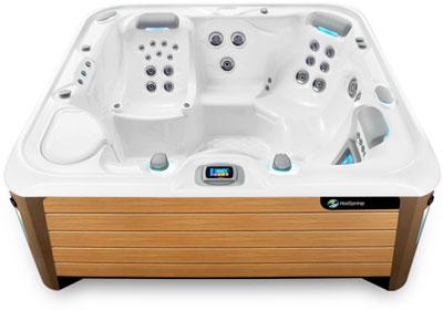 Envoy White Teak Hot Tub