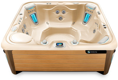 Grandee Creme Teak Hot Tub