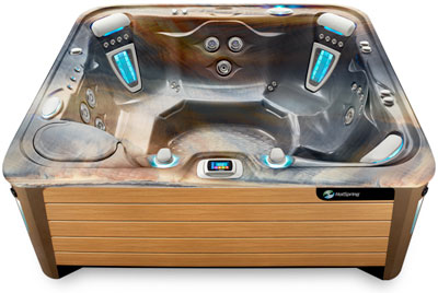 Grande Tuscan Teak Hot Tub