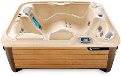Jet Creme Teak hot tub