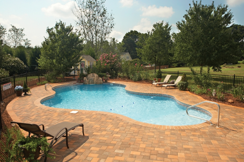 Legacy Edition Mountain Freeform cocrete Pool